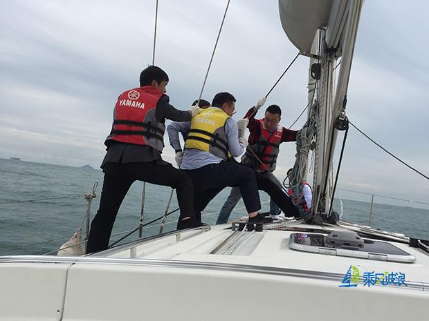 互联网巨头青岛帆船拓展,bat畅享海上大帆船出海
